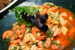 prawn salad lime chili dressin by okzneverbetheless