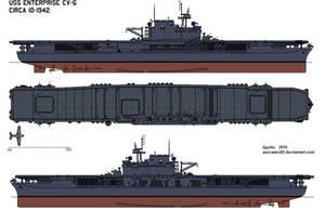 CV-6 USS Enterprise by aercastro82