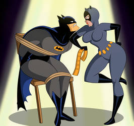 Batman and Catwoman by GrimPhantom by aercastro82