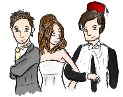 The 11th Doctor and company. by CrazyAboutMusic