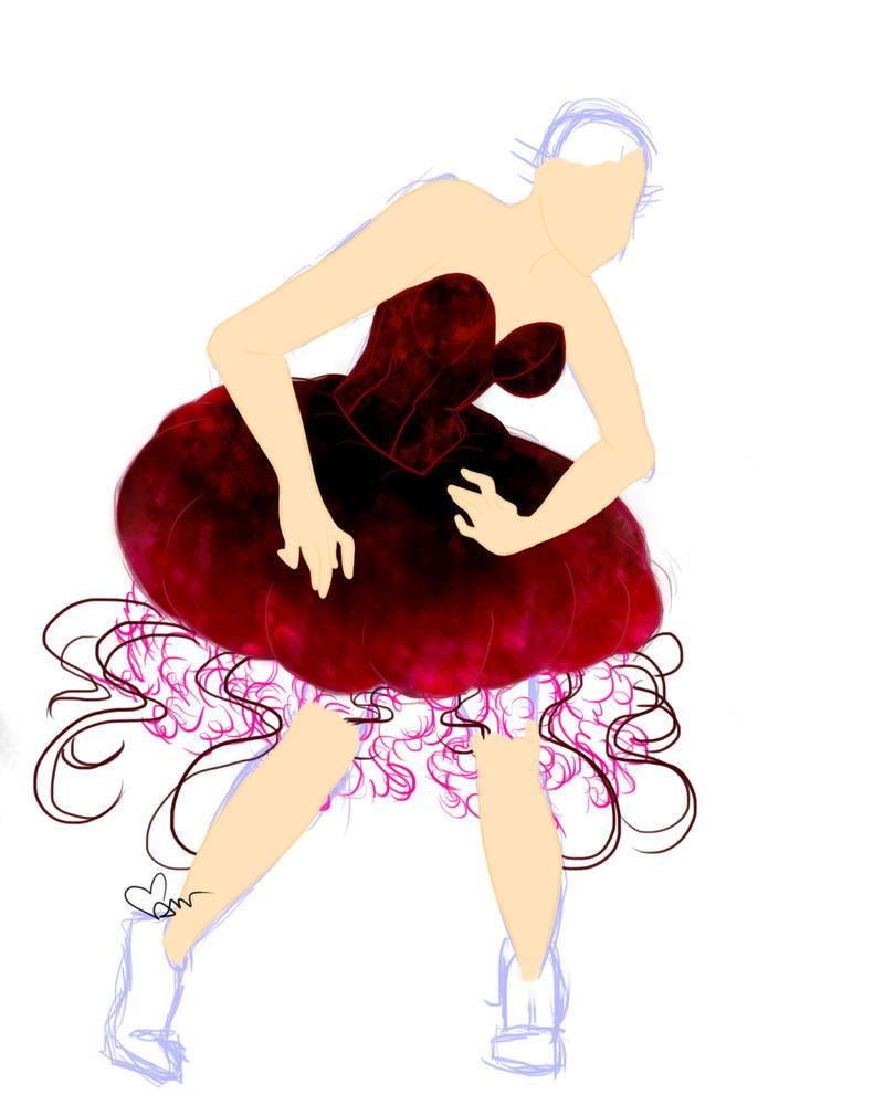 Jellyfish Girl WIP by Mitsukiko1404