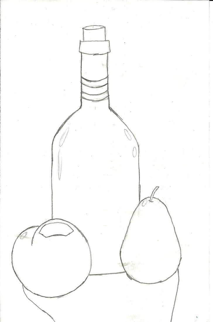 Line Drawing Still Life : Still life drawing by narutopixygirl on deviantart