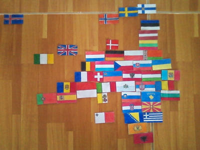 Flags of Europe. Continetal Form. by Creativeartisit