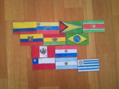 Flags of South America. Continetal Form. by Creativeartisit