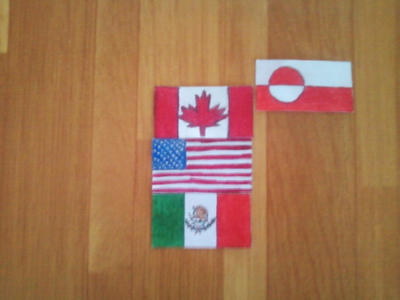 Flags of North America. Continetal Form. by Creativeartisit