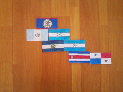 Flags of Central America. Continetal Form. by Creativeartisit