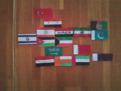 Flags of the Middle East. Regional Form. by Creativeartisit