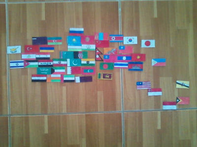 Flags of Asia. Continetal Form. by Creativeartisit