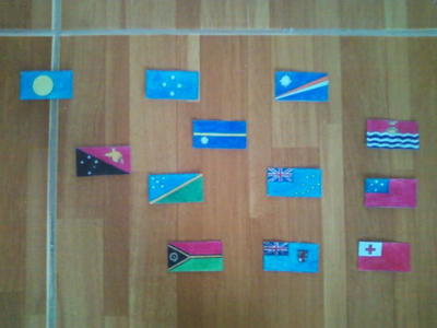 Flags of Oceania. Continetal Form. by Creativeartisit