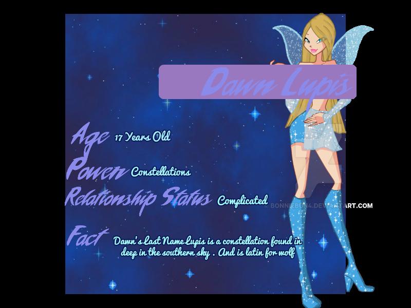 [Winx] Meet Dawn Lupis by Novalliez