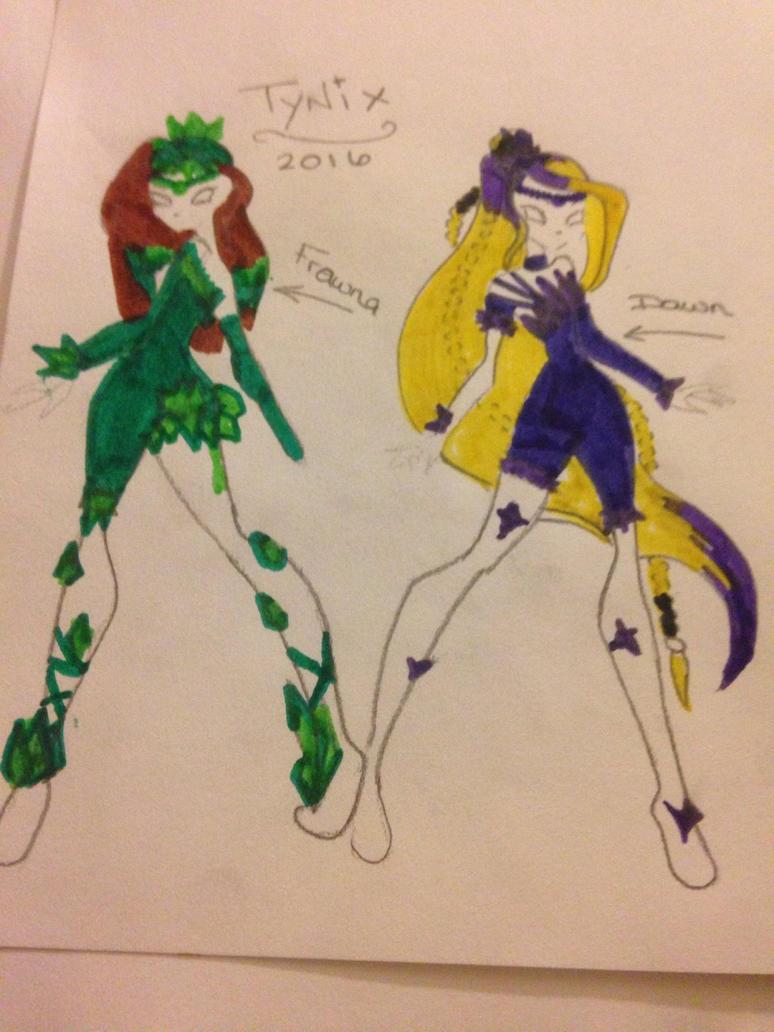 Tynix Girls Dawn and Fawna Coloured by Novalliez