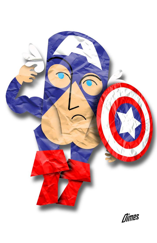 Captain America-flat A by Dimestime