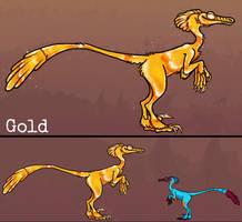 Gold Nether Raptor: BIO (Minecraft)