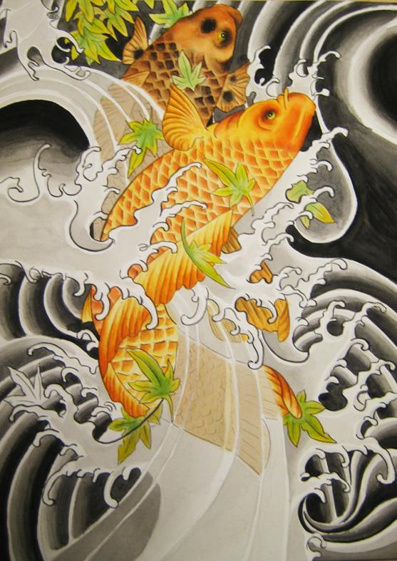 Carp koi japan by blacktear ale on deviantart for Koi japanese art