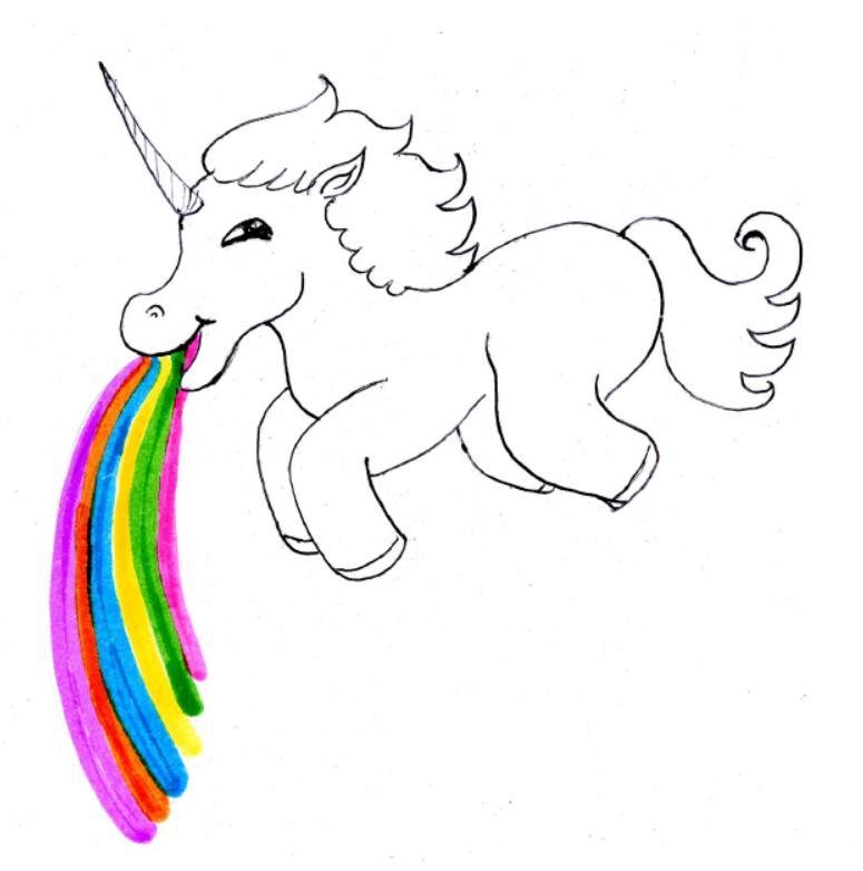 puking rainbows unicorn by batsu13angel on deviantart