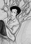 Castiel Sleep in the Trees by Batsu13angel