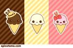 Basic Kawaii Ice cream Set
