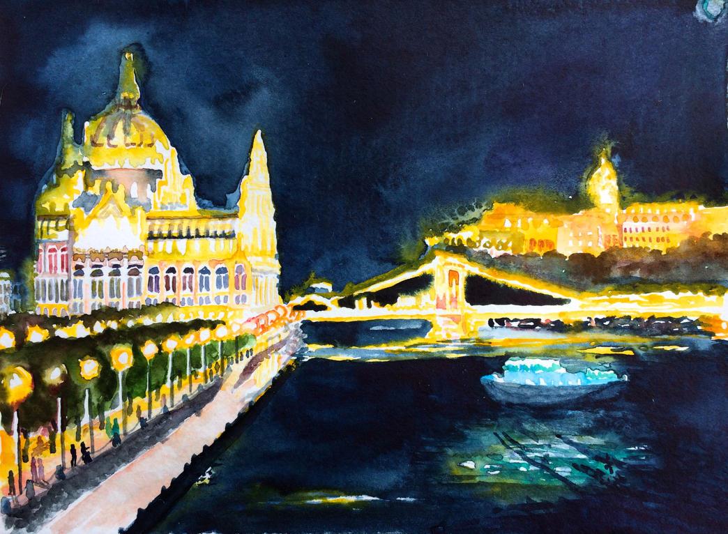 Magic lights over Donau by NeoNative