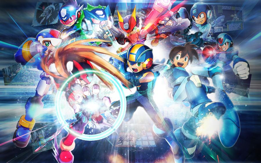 Mega Man Collab w Shuffle by Crazed-Artist