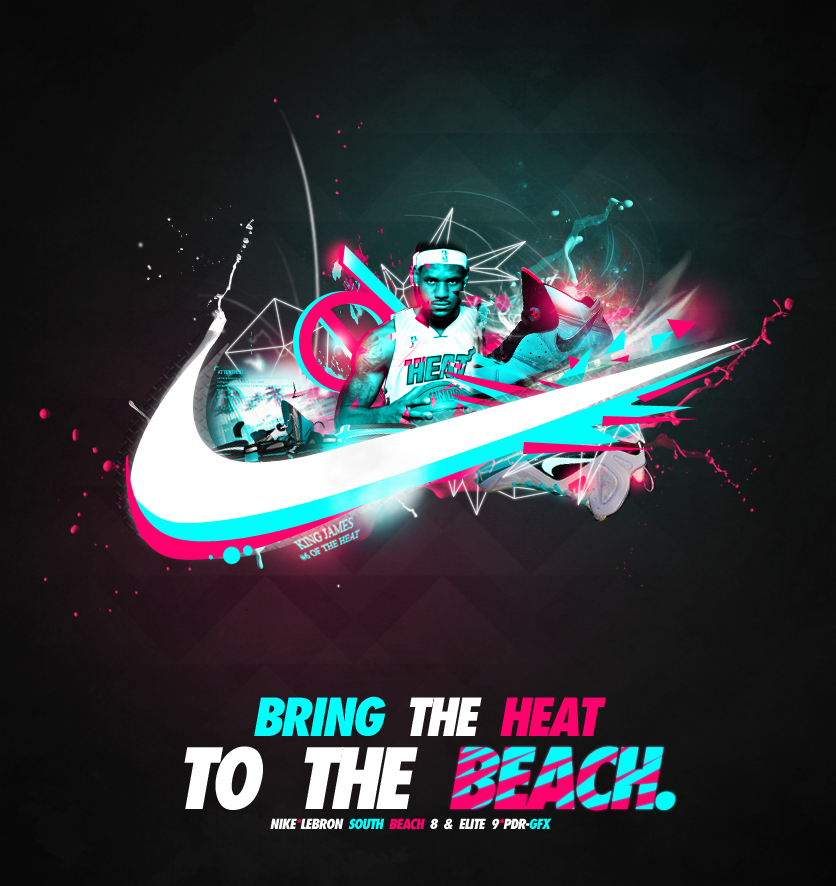 Lebron South Beach 8 and 9 Advertisement by Crazed-Artist