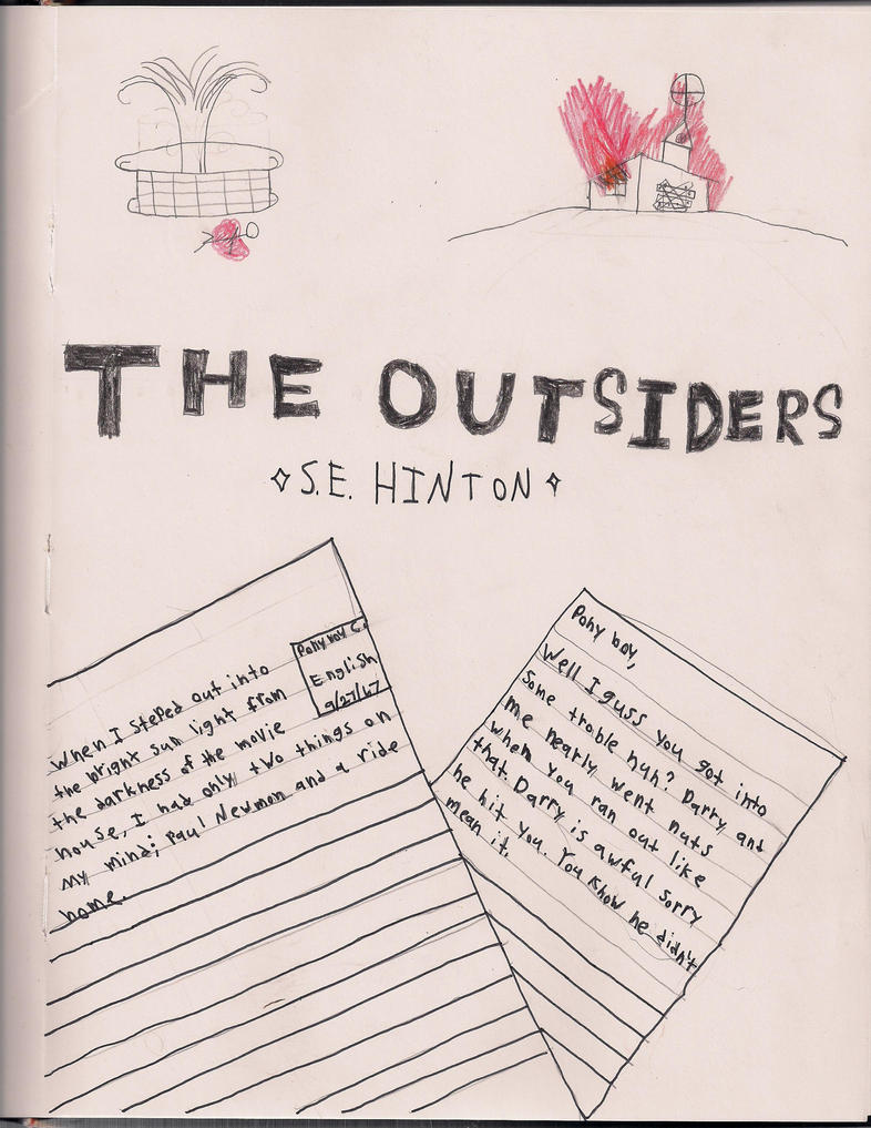 Book Cover Ideas For The Outsiders : The outsiders book cover by gothhippie on deviantart
