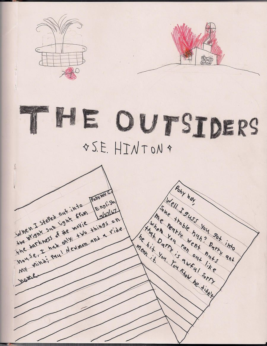 The Outsiders Book Cover Ideas : The outsiders book cover by gothhippie on deviantart