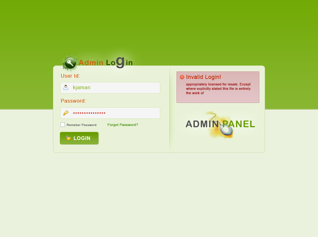 Admin panel login theme by kjaman on DeviantArt