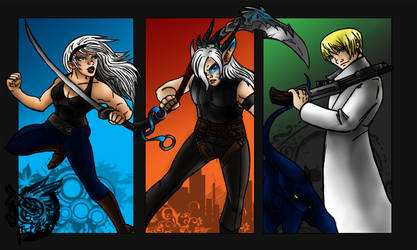 FFVII Fanfic characters by Fanglicious
