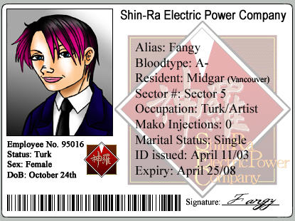 Shin-Ra ID by Fanglicious