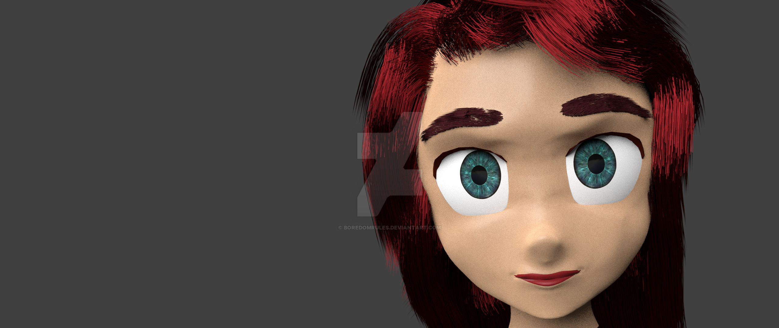 First character creation in Blender by BoredomRules