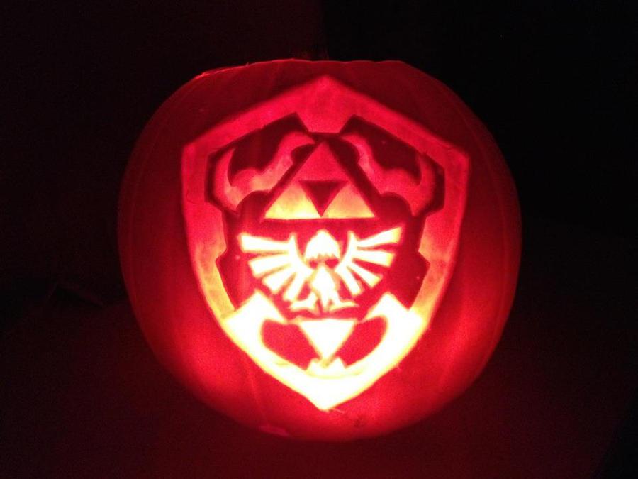 Hylian Shield Pumpkin by Emmagowen