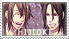 Hijikata x Okita stamp by BloodSttar