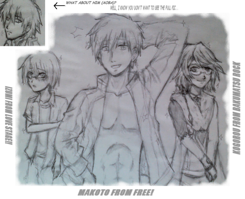 Trying to draw some bishounen of 2014 summer... by MidoriAida