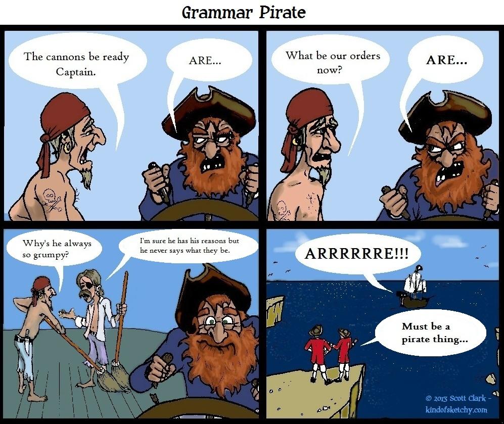 Grammar Pirate by ScottClarkArt