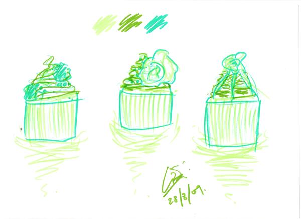 Cupcake Art Design : Cupcake Designs - Green by rednotion on deviantART