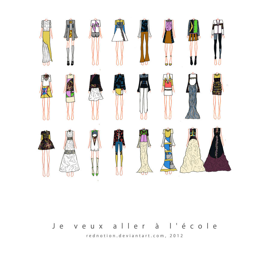 #Je veux aller a l'ecole# Collection 2012 by rednotion