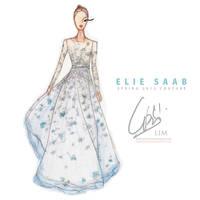 Elie Saab Spring 2012 Illus. by rednotion
