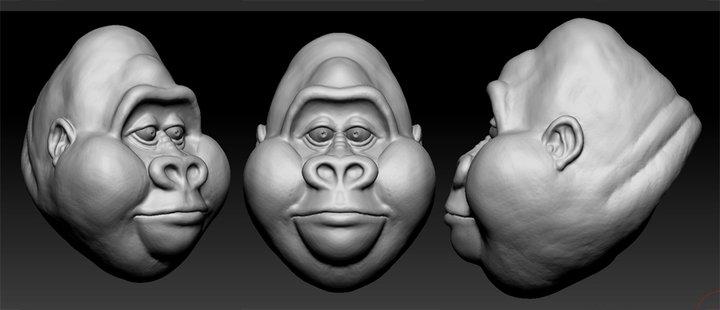 Zbrush Gorilla by dromens