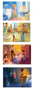 4 illustrations