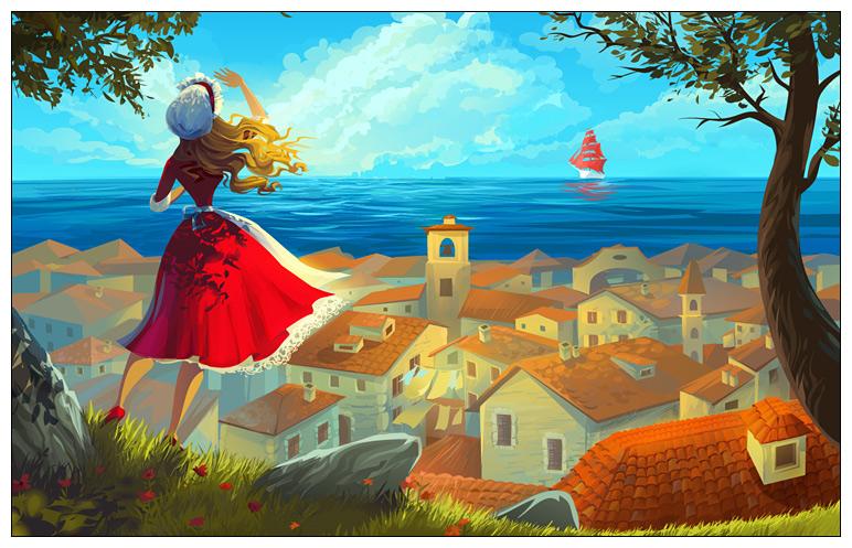 Scarlet sails by Zzanthia