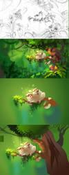 Jungle process by Zzanthia
