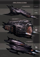 Alien Race Ship Concepts by misi006
