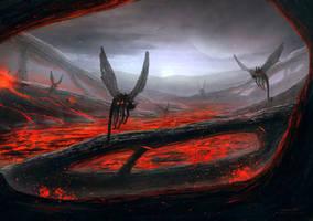 Lava Environment Concept Paint by misi006