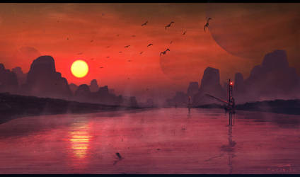 Fisher Landscape Digital Painting by misi006