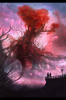 Love Tree Digital Painting by misi006