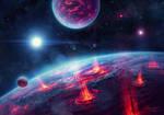 Fantasy Storm Planets