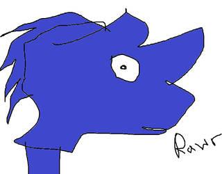 Rhino Sock Puppet Sonic by edbitthetewhog