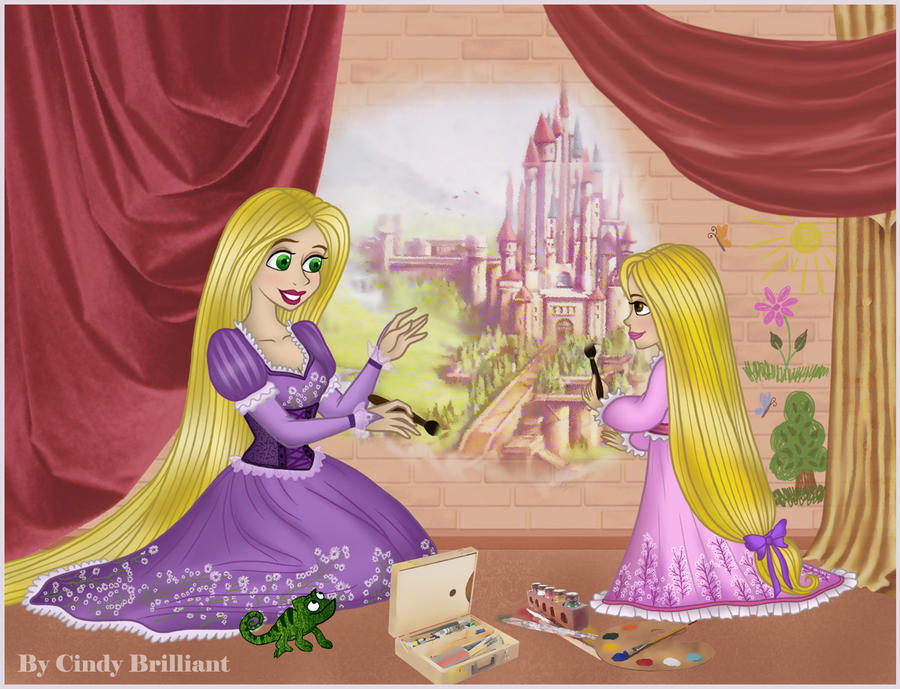 rapunzel and raiponce by cindy brilliant - Raiponce