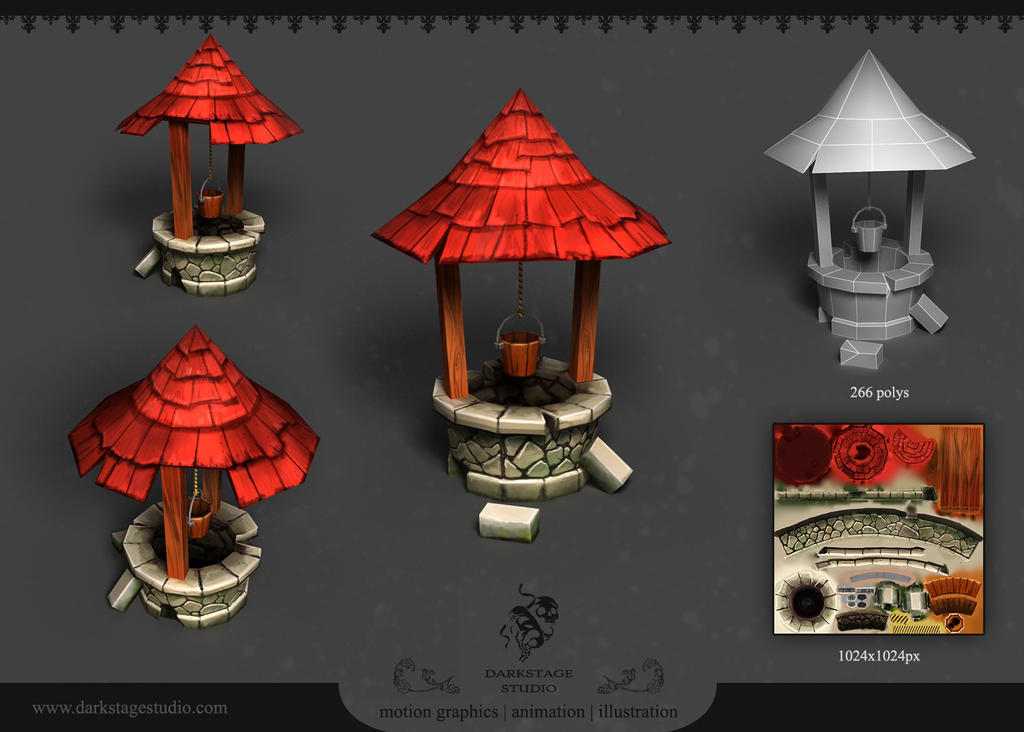 3d Line Drawing Game : Well d game prop by yairmor on deviantart
