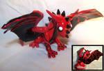 Red Swirl Dragon